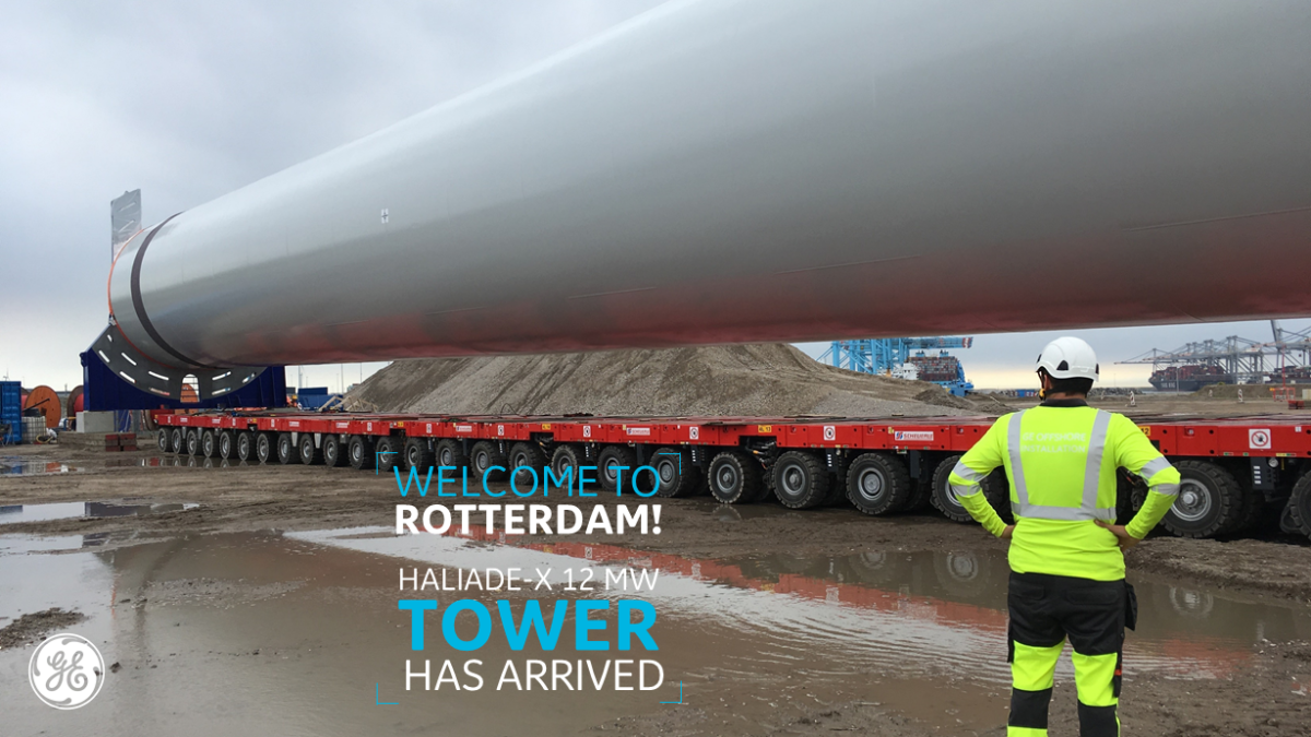 HALIADE-X TOWER SECTIONS ARRIVED AT ROTTERDAM